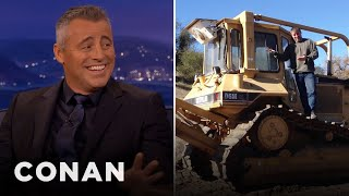 Matt LeBlanc's Ranch Has A Bulldozer  - CONAN on TBS