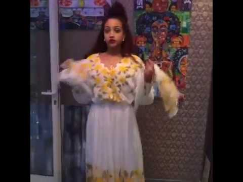 Ethiopia's Famous Actress Hanan Tarq Promoting Enku design