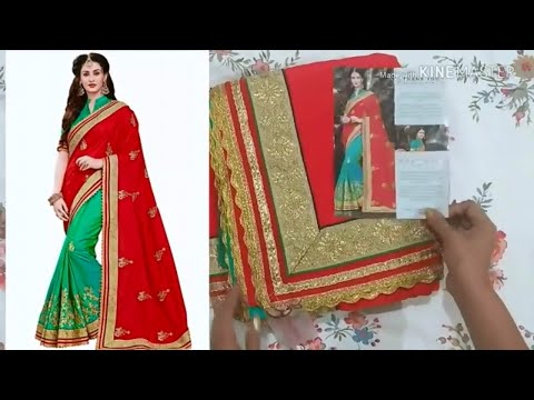 Unboxing  New Designer half saree form Flipkart |Flipkart Silk Saree Review| Saree Online Shopping