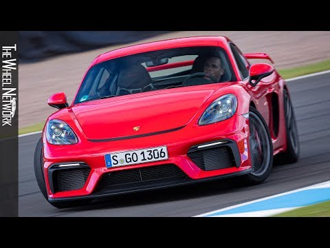 2020 Porsche 718 Cayman GT4 Road & Track Driving | Guards Red