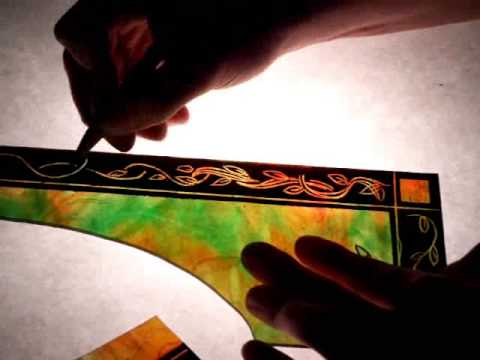 traditional stained glass painting