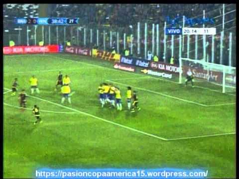 Brasil 2 Venezuela 1 (Relato Sebastian Luchsinger) Copa America 2015
