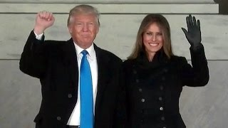 President Elect Donald Trump Speech at Welcome Celebration at Lincoln Memorial Jan. 19, 2017.