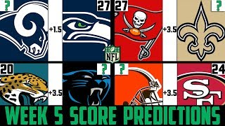 NFL Week 5 Score Predictions 2019 (NFL WEEK 5 PICKS AGAINST THE SPREAD 2019)