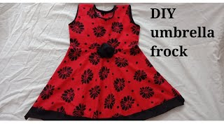 cutting and stitching of umbrella frock for five year baby for summer season