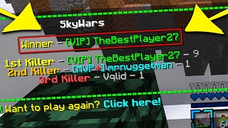 The BEST SKYWARS PLAYER EVER!.... (Minecraft)