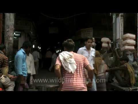 Khari Baoli Market with spice traders...