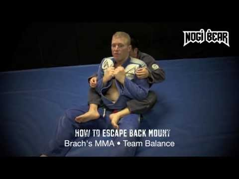 How to Escape Back Mount - Kenny Brach's MMA BJJ Team Balance - Nogi Bear™ AGL PGL Image 1