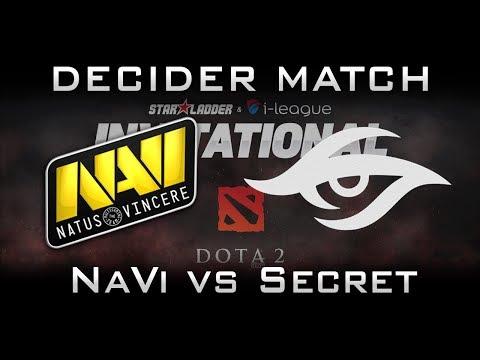 Secret vs NaVi Decider Match Starladder 2017 Minor Highlights Dota 2