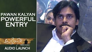 Power Star Pawan kalyan Powerful Entry @ Agnyaathavaasi Audio Launch