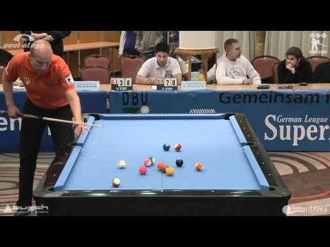 Billard Bundesliga, Roschkowsky vs Ederer Straight Pool