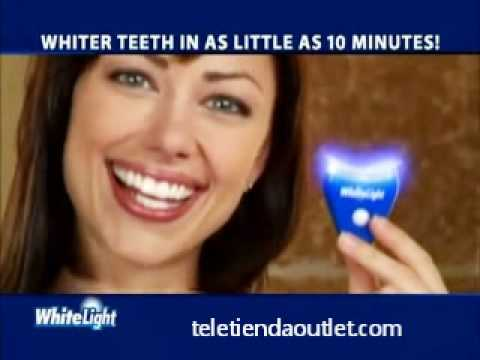 Anunciado en tv blanqueador dental white light smile 10 minutos teletienda outlet_com