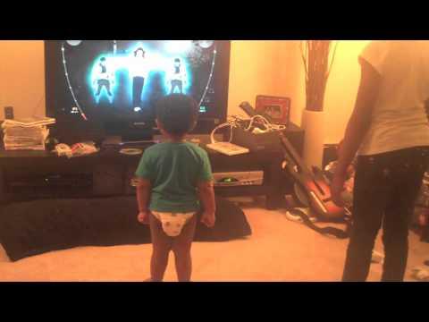 Baby Josiah Dances to Michael Jackson Experience Game
