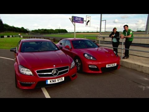 Mercedes CLS AMG vs Porshe Panamera GTS - Fifth Gear