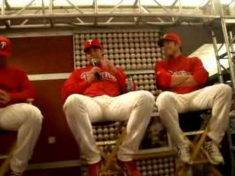 On deck w/ phillies Pat Burrell, Chase Utley & JC Video