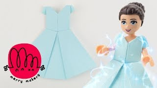 How to make a Paper Dress Origami for Kids with LEGO Friends