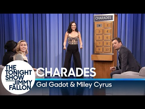 Cover Lagu Charades with Gal Gadot and Miley Cyrus