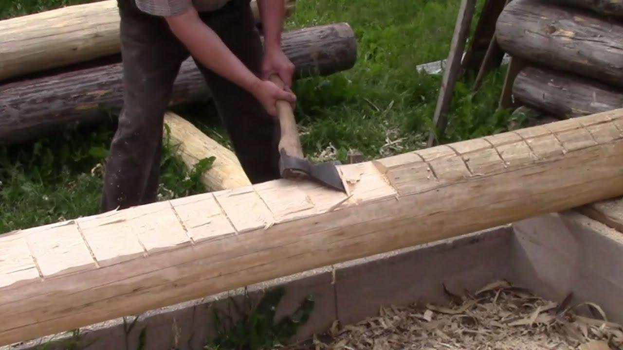 Как срубить баню из бревна своими руками в лапу