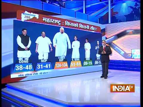 India TV-CVoter exit poll with Rajat Sharma ( Part 2 )