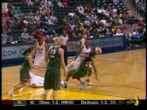 WNBA Seattle Storm vs Indiana Fever - June 9, 2009 - Katie Douglas Injury Video