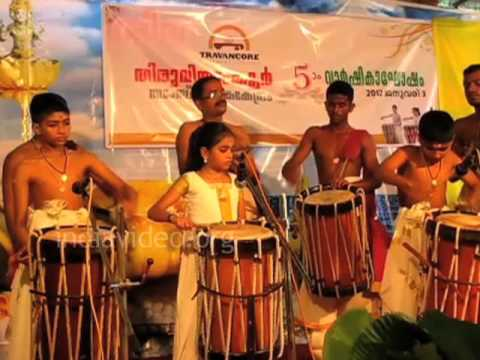 Thayambaka  performance by Margi. K. Rahitha and group