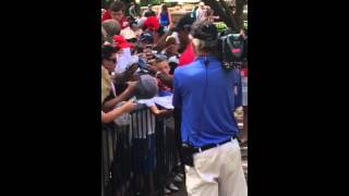 Tiger Woods signing autographs @ Quicken Loans