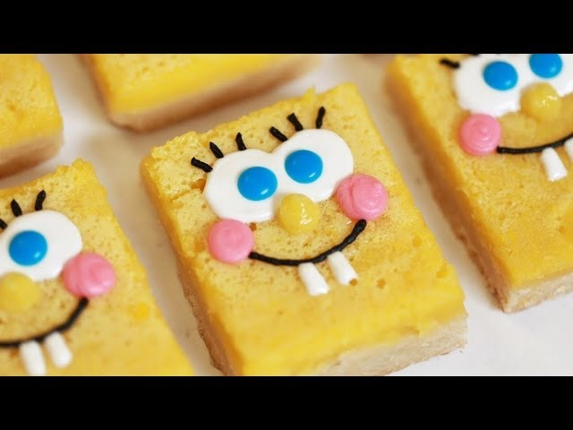 SPONGEBOB LEMON BARS - NERDY NUMMIES