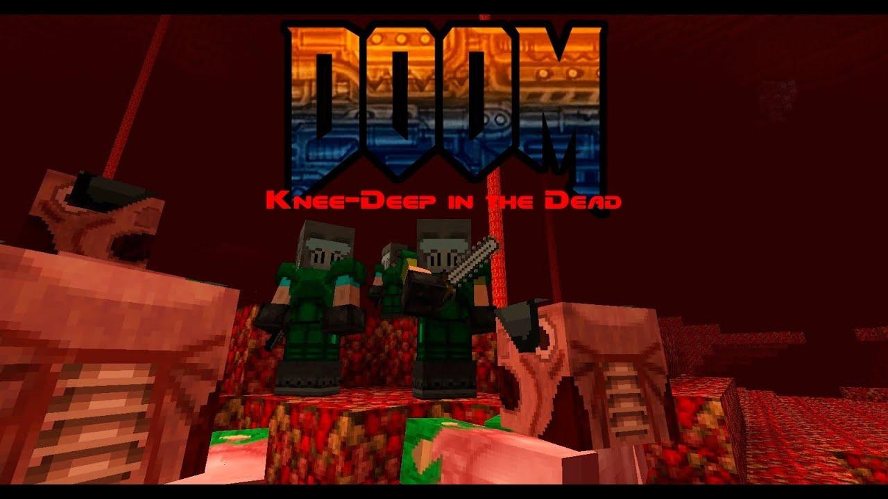 doom maps - episode 1 on minecraft
