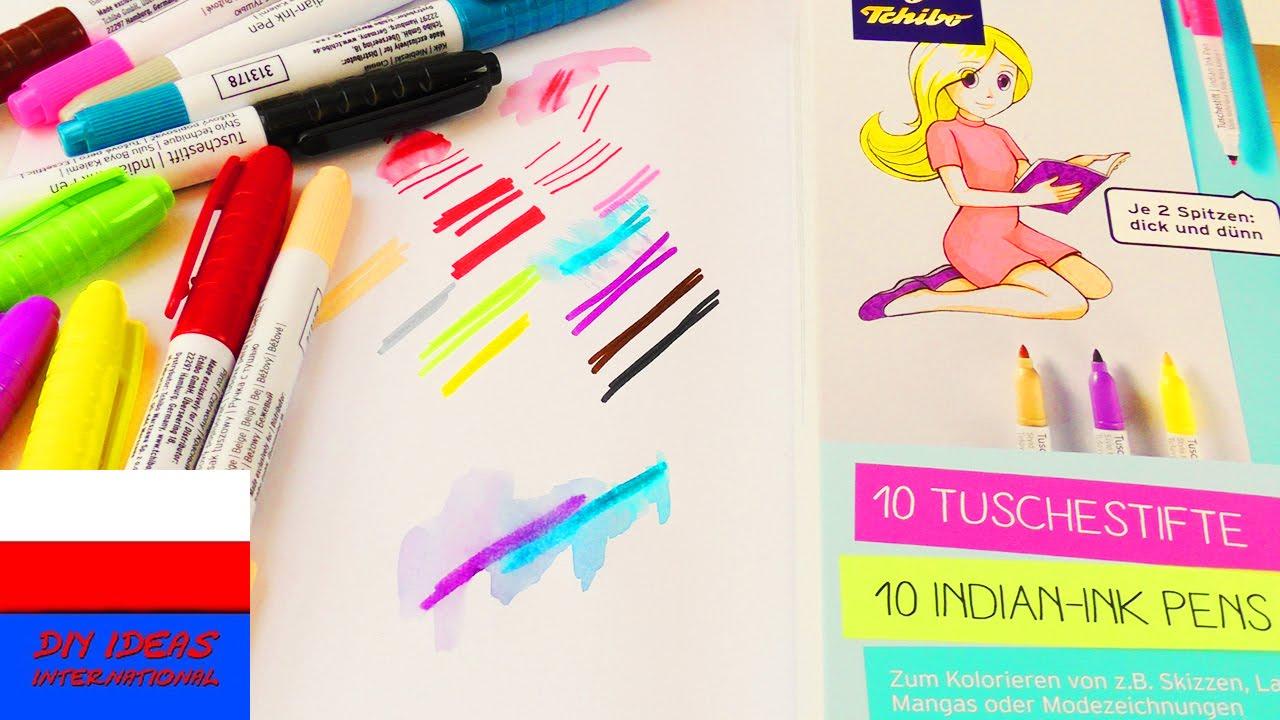 Nowe flamastry Tchibo | 10 kolorów | efekt akwareli