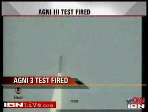 Agni 3 test launch, May 2008