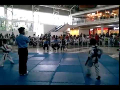 Janfred Kent A. Gallego 2nd game Red Armor in the Mindanao Taekwondo Championship 2013