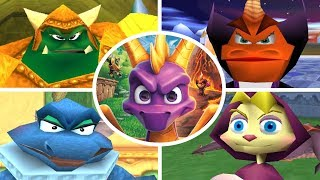 Spyro Trilogy - All Bosses + Cutscenes (No Damage)