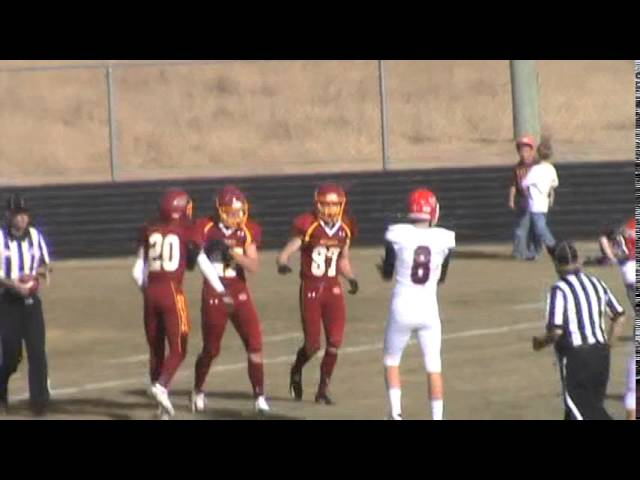 11-22-14 - It's a 15 yard TD reception by Clay Shaver (Brush 6, Kent Denver 0)