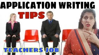 TIPS FOR WRITING A COVER LETTER FOR A TEACHING JOB