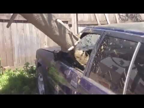 RoadRage Ru   Водительская разборка в Казани  Залили бетон в машину обидчика.