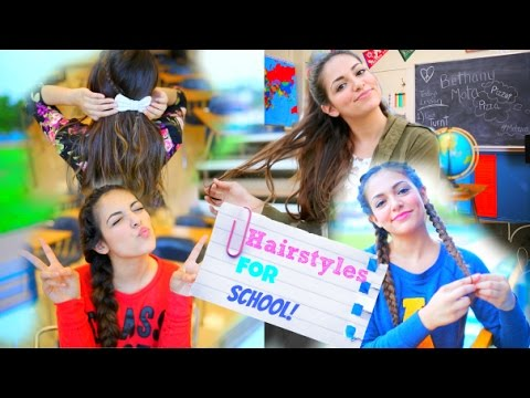 Back To School 5 Quick Hairstyle Ideas NO HEAT YouTube