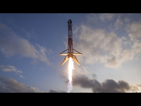 SpaceX Falcon 9 landing seen from droneship, 30 March 2017