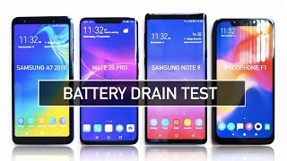 Samsung A7 2018 / Mate 20 Pro / Note 9 / Poco F1 BATTERY DRAIN Test | Zebiz