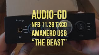 Audio-GD NFB 11.28 TXCO Headphone Amanero AMP DAC First Impressions