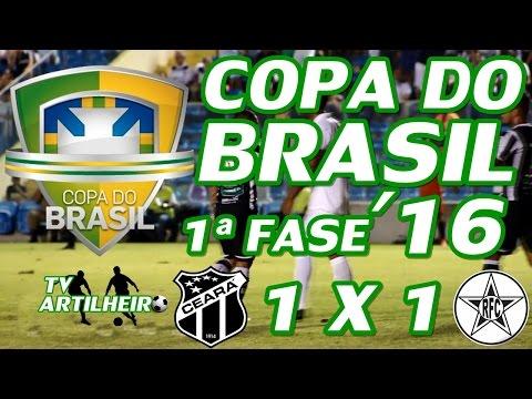 [Copa do Brasil '16] 1ª Fase - 2ª Rodada  - Ceará SC 1 X 1 Resende FC - TV ARTILHEIRO