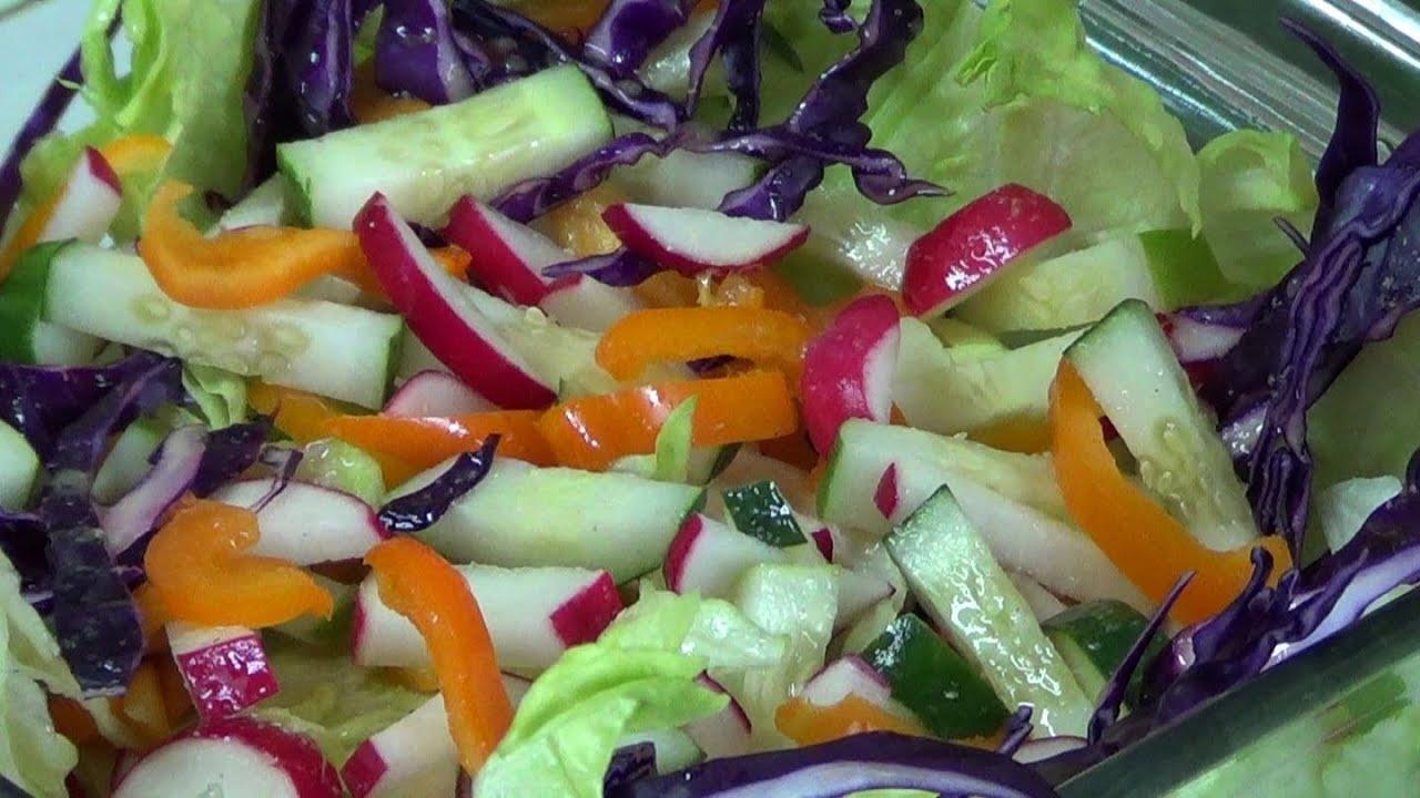 Ensalada de vegetales como hacer una ensalada de vegetales deliciosa pekiskitchen youtube - Diferentes ensaladas de lechuga ...