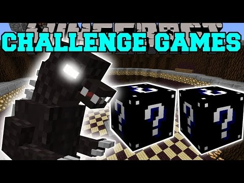 Minecraft: GODZILLA CHALLENGE GAMES - Lucky Block Mod - Modded Mini-Game
