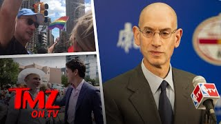 NBA Commissioner Adam Silver Gets His Pride On! | TMZ TV