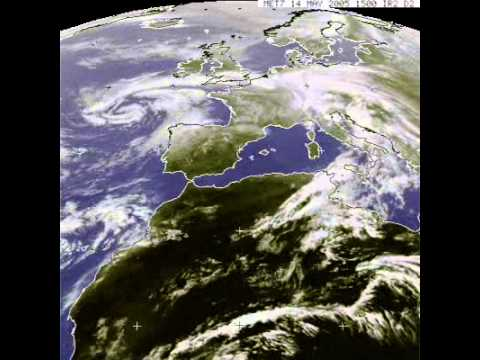Meteosat clouds above europe in time-lapse