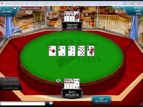 Tom Dwan (Durrrr) vs. Ziigmund (Ziggy) $9k Antes Online Omaha Hi
