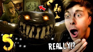 BENDY CHAPTER 5 END! REAL BENDY & LEAVING the STUDIO!! | Bendy and The Ink Machine Chapter 5 ENDING