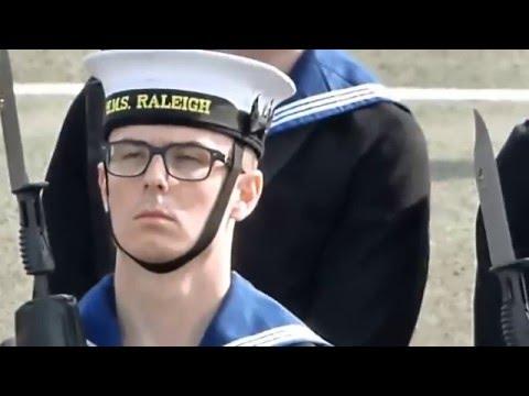 Royal navy pass out at HMS  Raleigh