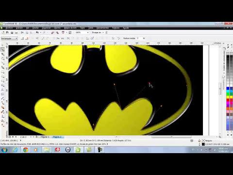 tutorial logo batman en CorelDraw X5