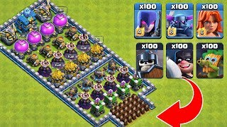 Who Can Survive This Difficult Trap on COC? Trap VS Troops #30