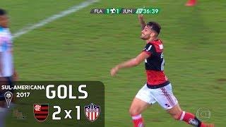Gols - Flamengo 2 x 1 Junior Barranquilla - Semifinal Sul-Americana 2017 - Globo HD